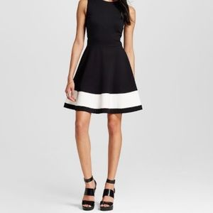 Necessary Objects Ponte Fit & Flare Dress